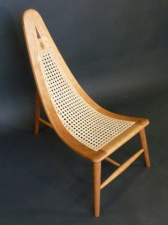 Caned Curved Chair